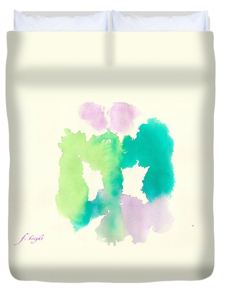 Duvet Cover featuring the painting Cocoon by Frank Bright