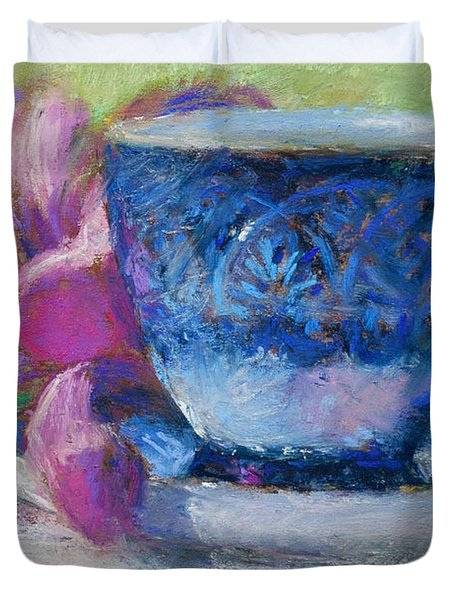 Coffee And Flowers Duvet Cover by Nancy Stutes
