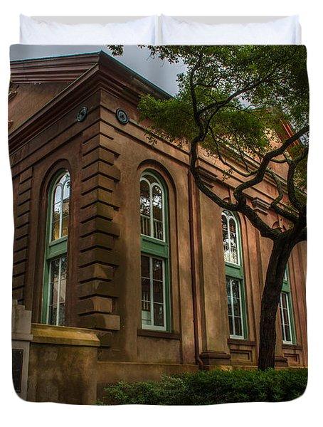 College Of Charleston Campus Duvet Cover