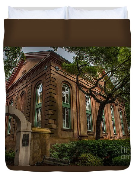 College Of Charleston Campus Duvet Cover