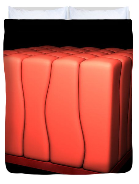Conceptual Image Of Simple Columnar Duvet Cover