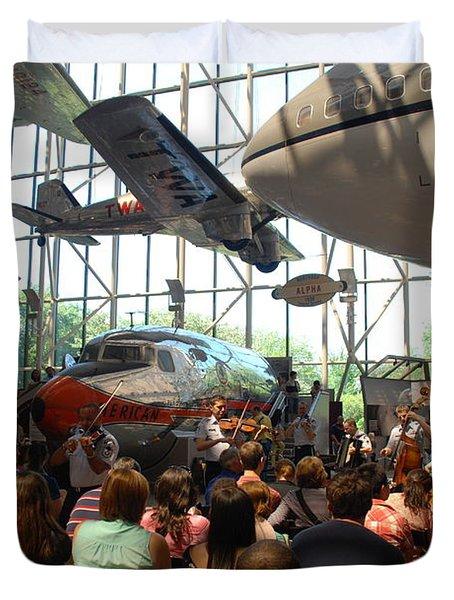 Concert Under The Planes Duvet Cover