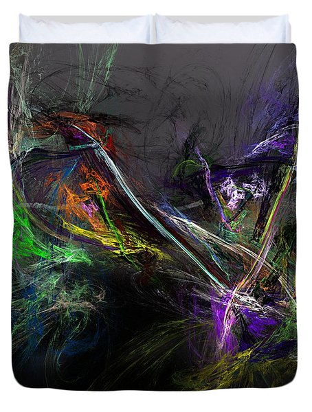 Duvet Cover featuring the digital art Conflict by David Lane