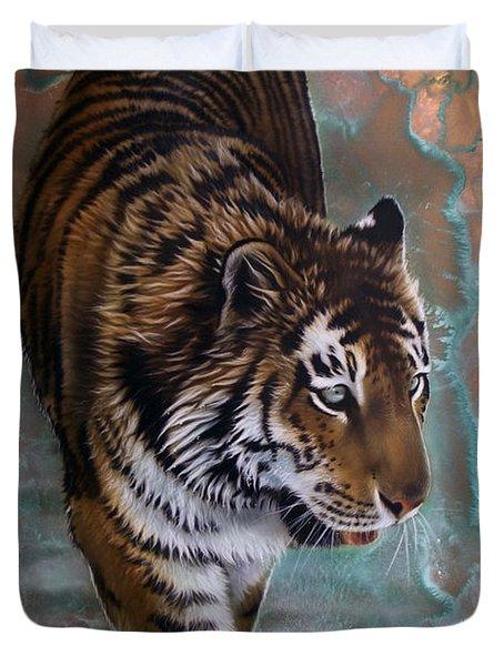 Copper Tiger I  Duvet Cover