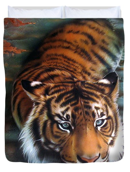 Copper Tiger II Duvet Cover
