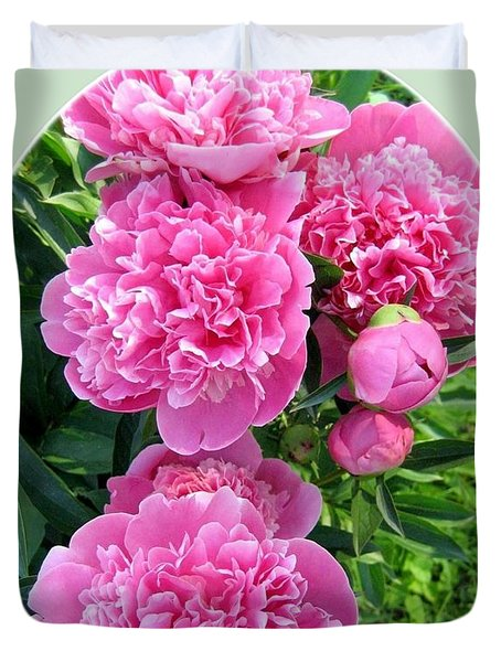 Country Peonies Duvet Cover