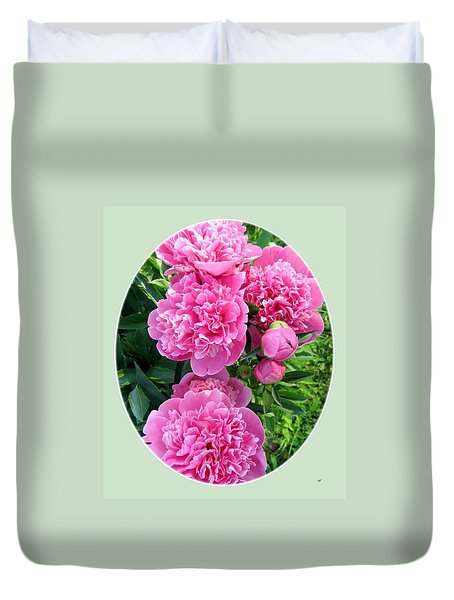 Country Peonies Duvet Cover by Will Borden