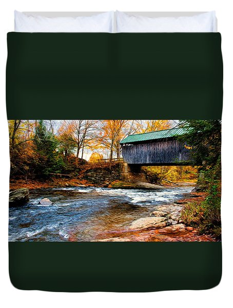 Duvet Cover featuring the photograph Covered Bridge by Bill Howard