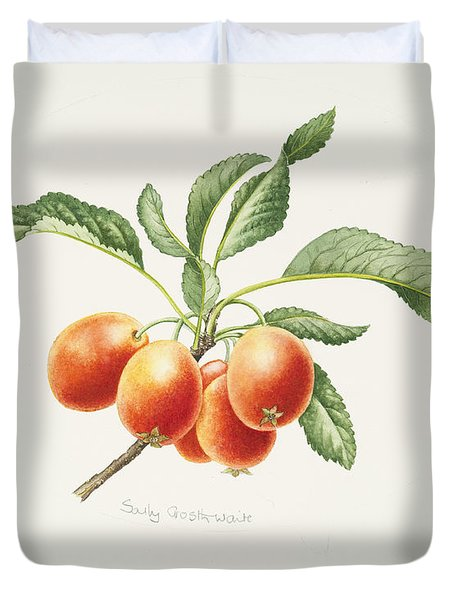 Crab Apples Duvet Cover