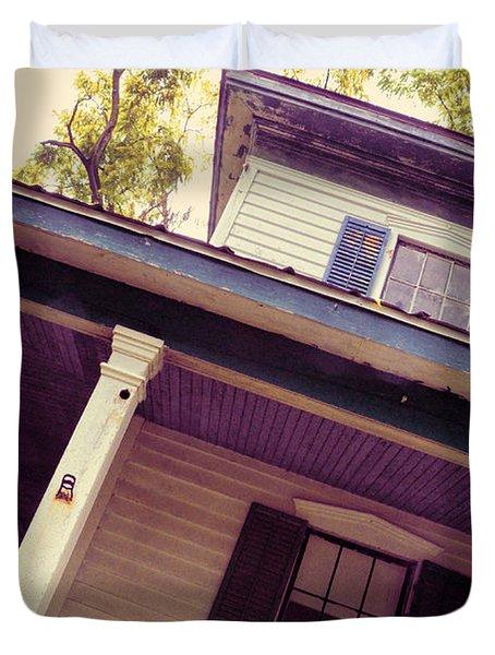 Creepy Old House Duvet Cover by Jill Battaglia