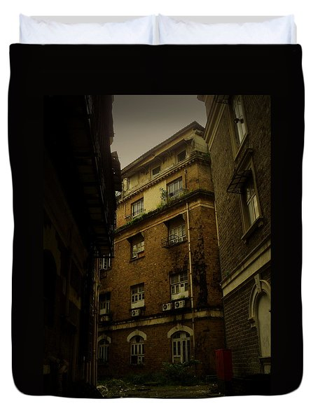 Duvet Cover featuring the photograph Crime Alley by Salman Ravish