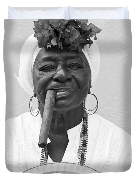 Cuban Lady Duvet Cover