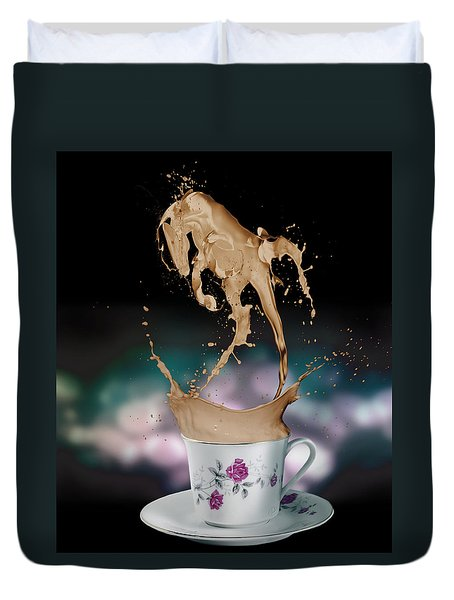 Cup Of Coffee Duvet Cover by Kate Black