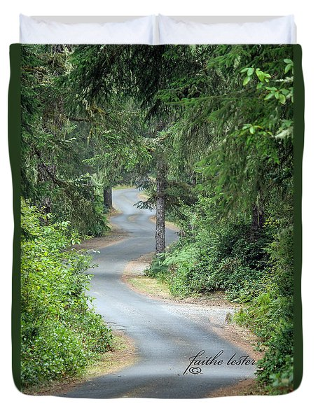 Curves Into Leadbetter Point State Park II Duvet Cover