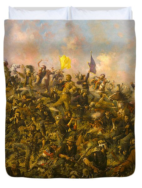 Custers Last Stand Duvet Cover