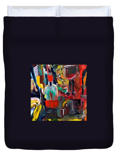 Cut IIi Wine Woman And Music Duvet Cover