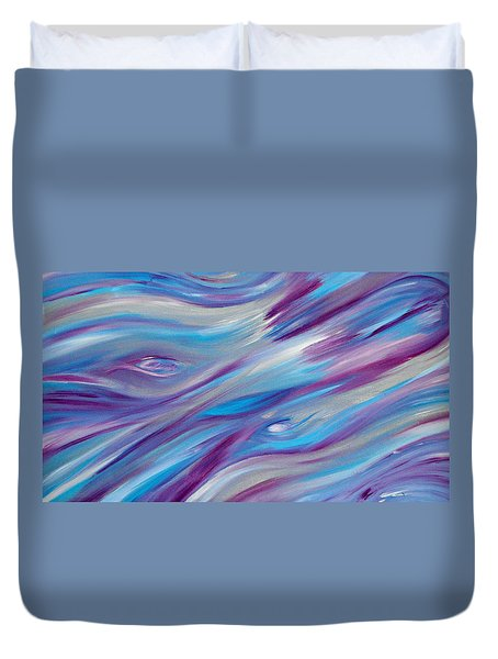 Duvet Cover featuring the painting Cy Lantyca 2 by Cyryn Fyrcyd