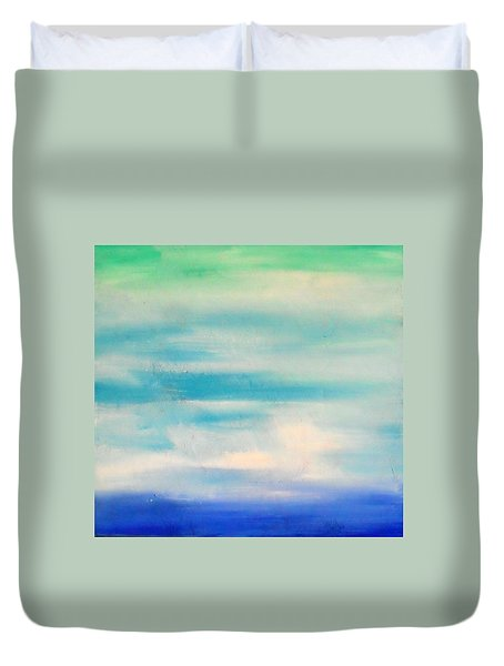 Duvet Cover featuring the painting Cy Lantyca 6 by Cyryn Fyrcyd