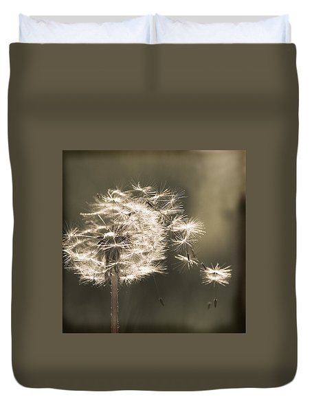 Duvet Cover featuring the photograph Dandelion by Yulia Kazansky