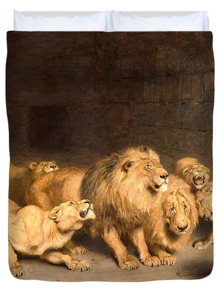 Daniel In The Lions' Den Duvet Cover