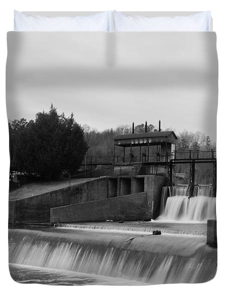 Daniel Pratt Cotton Mill Dam Prattville Alabama Duvet Cover
