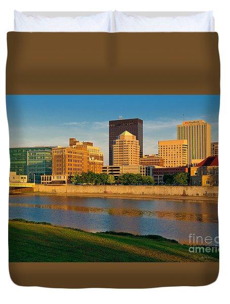 D4u-379 Dayton Skyline Photo Duvet Cover