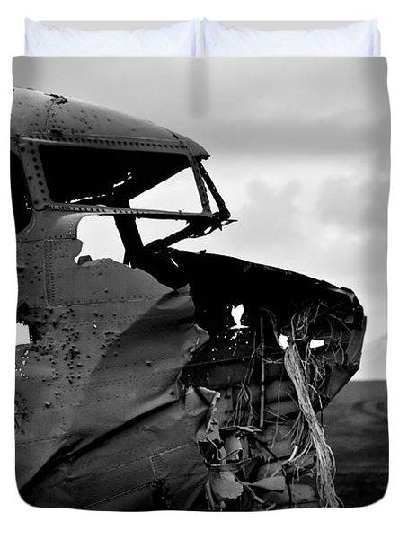 Duvet Cover featuring the photograph Dc 3 Iceland by Gunnar Orn Arnason