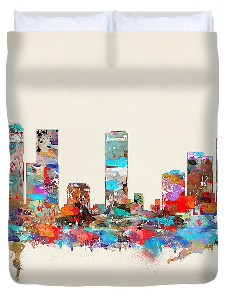 Denver Colorado Skyline Duvet Cover
