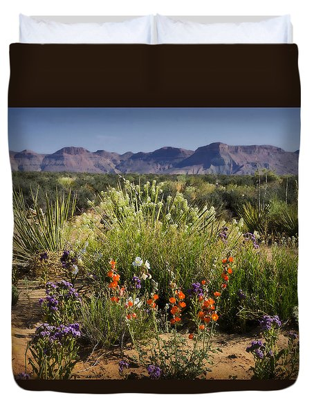 Desert Wildflowers Duvet Cover by Saija  Lehtonen