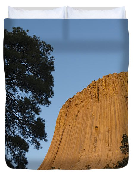 Devils Tower National Monument Wyoming Duvet Cover