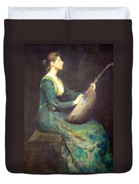 Dewing's Lady With A Lute Duvet Cover by Cora Wandel