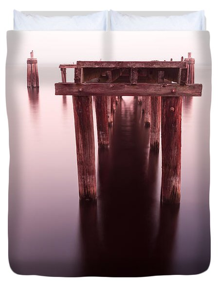 Dock At Twilight Duvet Cover