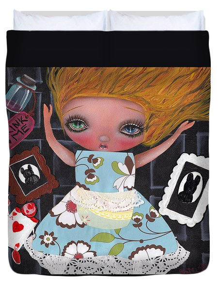 Down The Rabbit Hole Duvet Cover by Abril Andrade Griffith