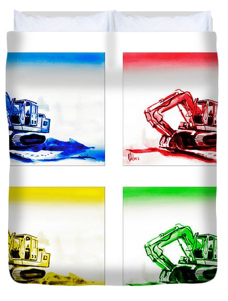 Dozer Mania Duvet Cover by Kip DeVore