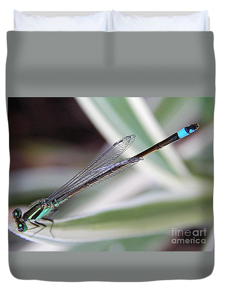 New Orleans Damsel Fly Duvet Cover