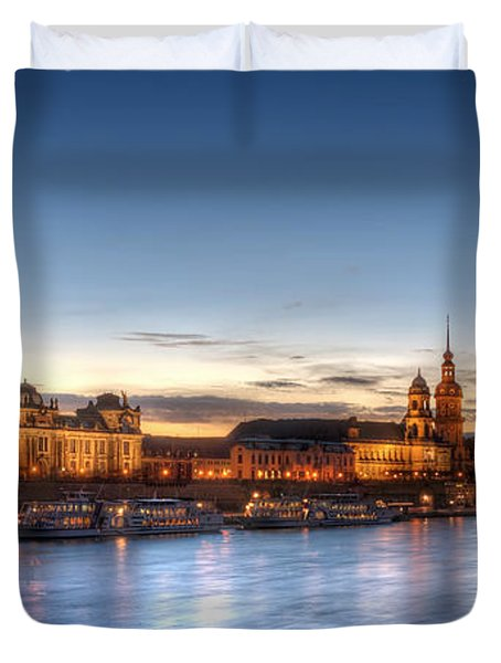 Dresden Skyline Duvet Cover by Steffen Gierok