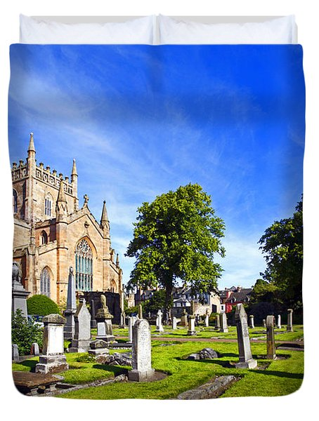 Duvet Cover featuring the photograph Dunfermline Abbey Scotland by Craig B