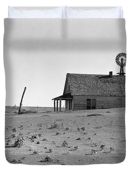 Dust Bowl, 1938 Duvet Cover