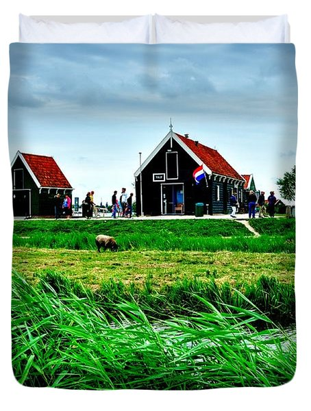 Duvet Cover featuring the photograph Dutch Village by Joe  Ng