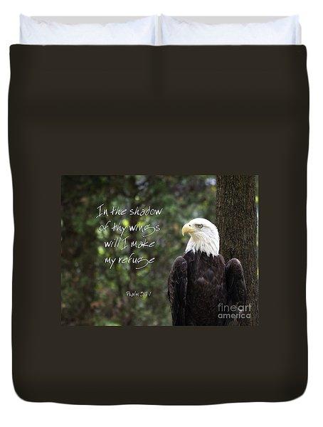Eagle Scripture Duvet Cover