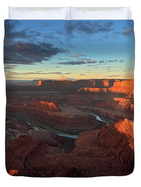 Early Morning At Dead Horse Point Duvet Cover
