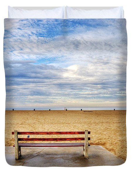 Early Morning At The Beach Duvet Cover by Chuck Staley