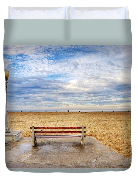 Early Morning At The Beach Duvet Cover