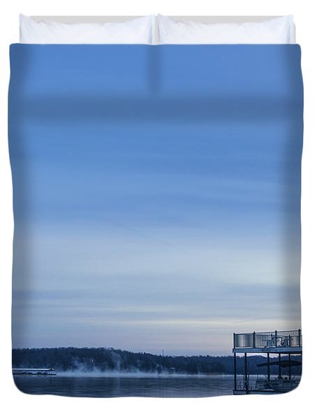 Early Morning At The Lake Duvet Cover