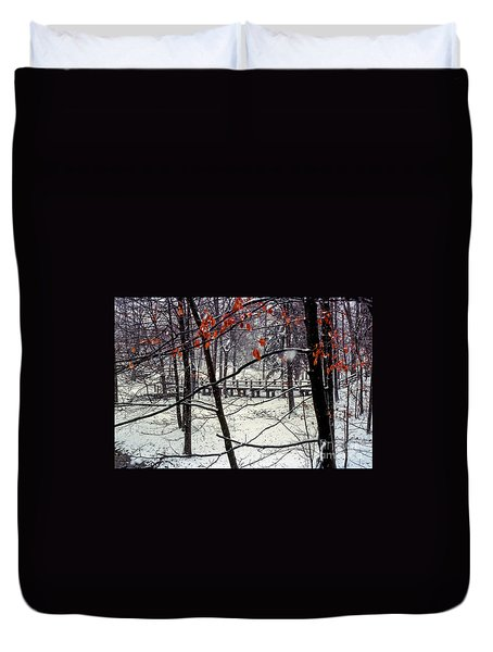 Early Snow Duvet Cover by Bob Phillips