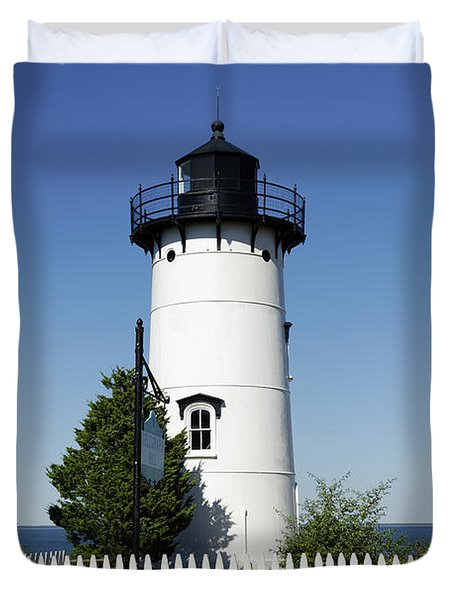 East Chop Lighthouse Duvet Cover by John Greim