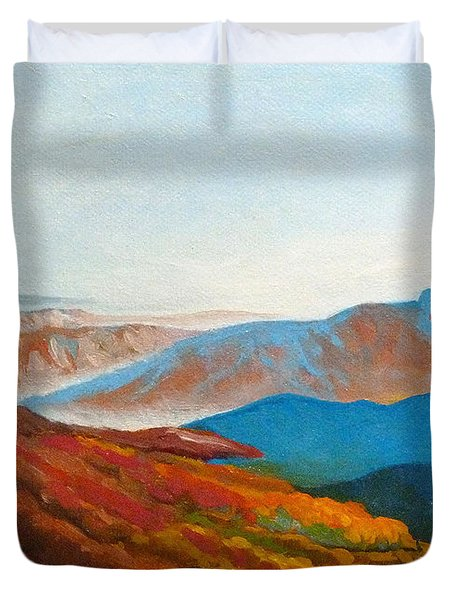 East Fall Blue Ridge Mountains 2 Duvet Cover