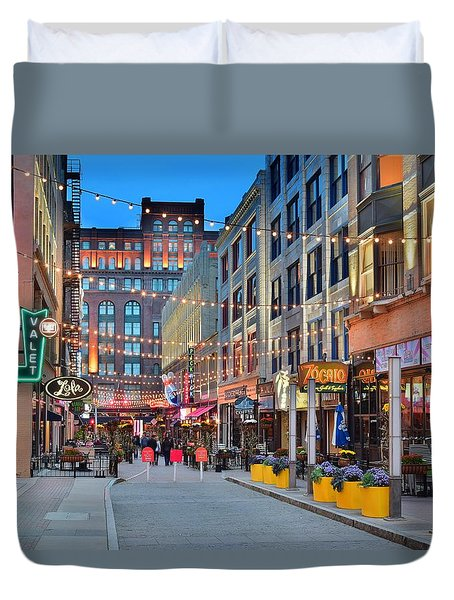 East Fourth Street In Cleveland Duvet Cover