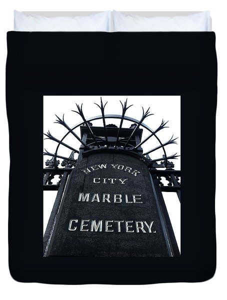 East Village Cemetery Duvet Cover by Natasha Marco