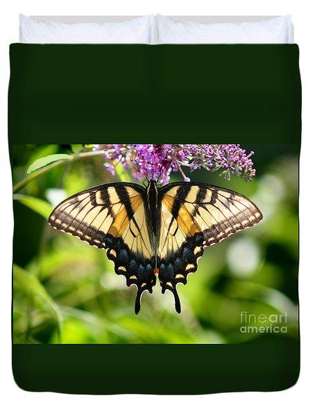 Eastern Tiger Swallowtail Butterfly Duvet Cover by Karen Adams